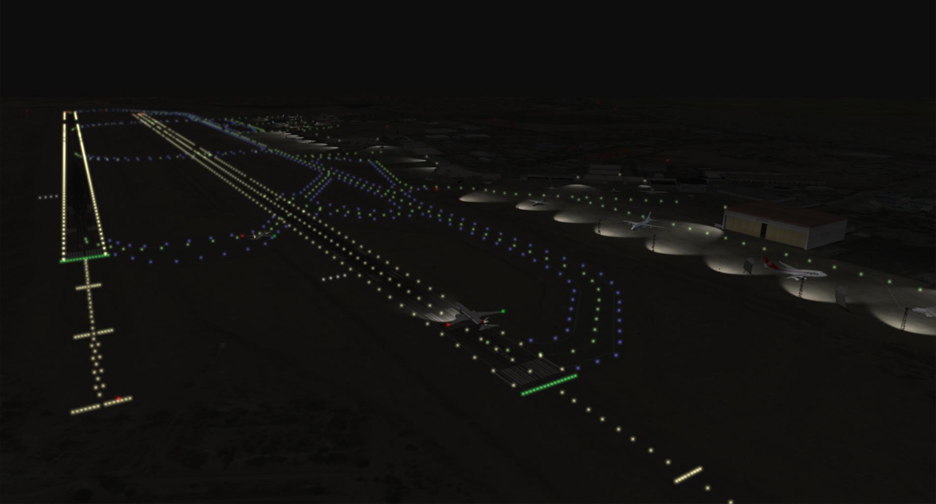 runway at night
