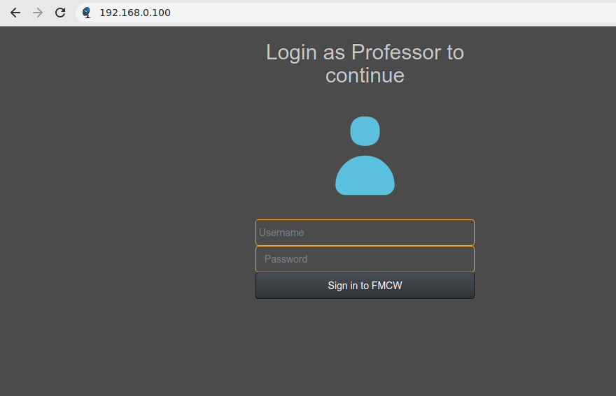 Professor Login