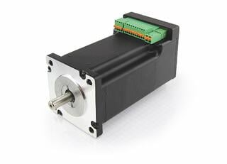 high precision brushless DC servo motor with integrated controller (stepper)