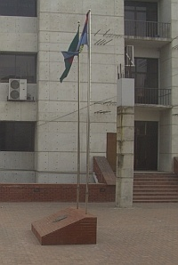 Flag monitored through a window