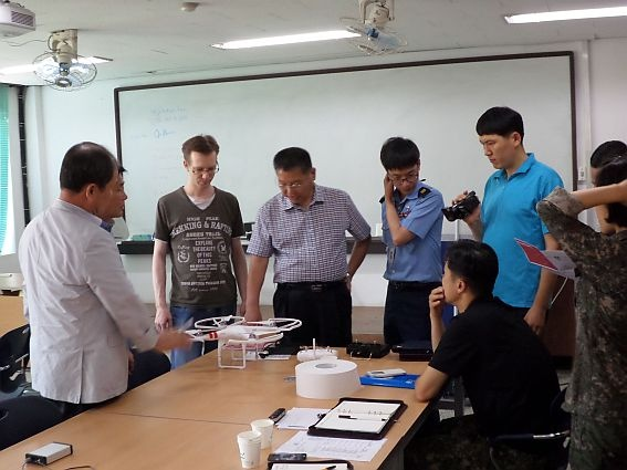 ROKAF Meeting with Quadcopter SkyRadar